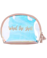 Shiraleah Atlantis What The Shell Cosmetic Bag - Blue