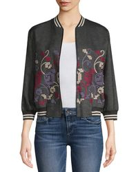 Anna Sui - Cross-stitch Embroidered Jacket - Lyst