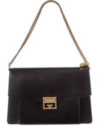 Givenchy Gv3 Medium Leather Shoulder Bag - Black