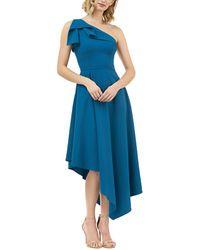 Kay Unger Midi Dress - Blue