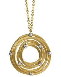 Marco Bicego Goa 18k Two-tone 0.24 Ct. Tw. Diamond Pendant - Metallic