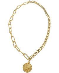 Adornia 14k Plated Coin Necklace - Metallic