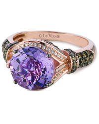 Le Vian Grand Sample Sale 14k Strawberry Gold 3.50 Ct. Tw. Diamond & Amethyst Ring - Multicolor