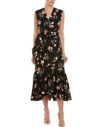 Rebecca Taylor Ruffle Wrap Dress - Black