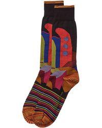 Robert Graham Curly Socks - Black