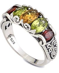 Samuel B. Silver 1.25 Ct. Tw. Gemstone Crown Ring - Metallic