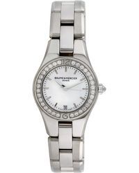Baume & Mercier Baume & Mercier 2000s Women's Linea Dress Style Diamond Watch - Metallic