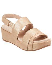 Antelope 417 Leather Wedge Sandal - Metallic