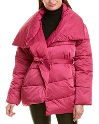 Avec Les Filles Wrap Puffer Jacket - Pink