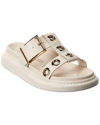 Alexander McQueen Hybrid Leather Sandal - White