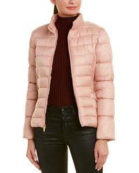 Via Spiga Quilted Coat - Pink
