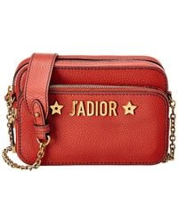 Dior J'a Leather Crossbody - Red