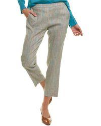 Theory - Treeca Linen-blend Pant - Lyst
