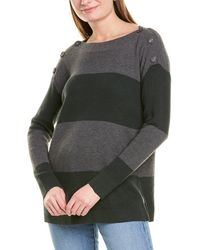 Vince Camuto Button Shoulder Jumper - Grey