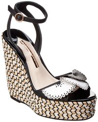 Sophia Webster - Soleil Lucita Leather Espadrille Wedge Sandal - Lyst