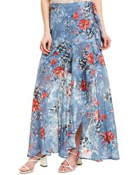 French Connection Cateline Maxi Skirt - Blue