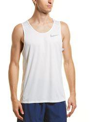 Nike Dry Miller Tank - White