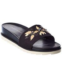 Donald J Pliner Janele Leather Slide - Black