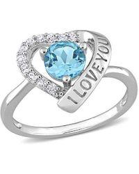 Rina Limor Silver 1.33 Ct. Tw. Gemstone Ring - Metallic