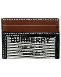 Burberry Horseferry Canvas & Leather Card Case - Black