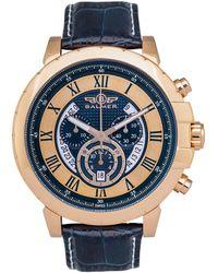 Balmer Atalante Swiss Men's Chronograph Quartz Genuine Leather Strap - Multicolor