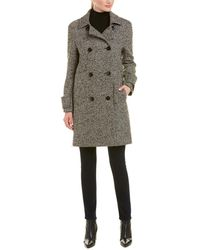 Cinzia Rocca - Double-button Wool-blend Coat - Lyst