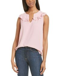 Cece By Cynthia Steffe Ruffle V-neck Top - Pink