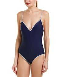 Sam Edelman One-piece Tank Swimsuit - Blue