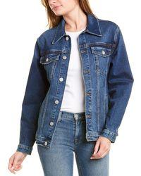 Hudson Jeans Oversized Denim Jacket - Blue