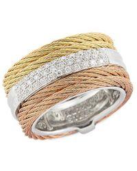 Alor 18k 0.28 Ct. Tw. Diamond Ring - Metallic