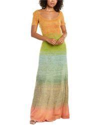 Missoni Abito Lungo Alpaca & Mohair-blend Maxi Dress - Green