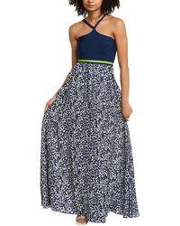 Tanya Taylor Fifi Silk-blend Maxi Dress - Blue