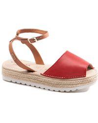 VISCATA Ciutadella Leather Sandal - Red