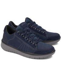Allrounder By Mephisto Ladiva Leather Sneaker - Blue