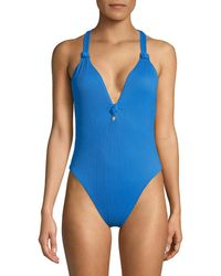 Dolce Vita Knotted One-piece - Blue