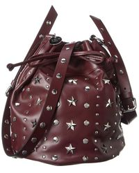RED Valentino Sky Combat Leather Bucket Bag - Multicolour