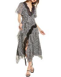 Rebecca Taylor Star Lace Maxi Dress - Black