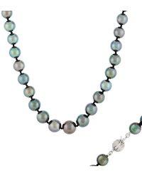 Masako Pearls 14k 12-15mm Tahitian Pearl Necklace - Metallic