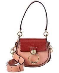 Chloé Tess Small Leather Shoulder Bag - Multicolour