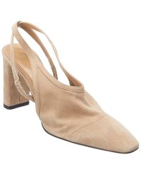 The Row Camil Suede Pump - Natural