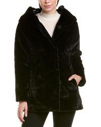 Herno Plush Coat - Black