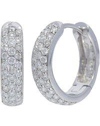 Nephora 14k 0.35 Ct. Tw. Diamond Huggie Earrings - Metallic