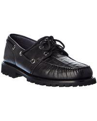 Fendi Leather Loafer - Black