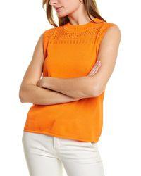 St. John Pointelle Shell - Orange
