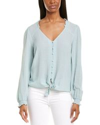 1.STATE Crinkle Dobby Top - Green
