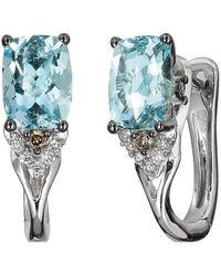 Le Vian ? Chocolatier? 14k Vanilla Gold? 1.44 Ct. Tw. Diamond & Aquamarine Earrings - Multicolour