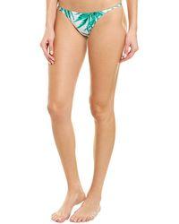 MILLY Cabana Cheeky String Bikini Bottom - Green