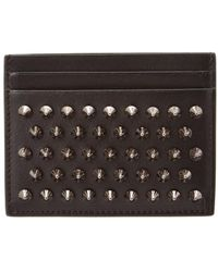 Christian Louboutin Kios Simple Leather Card Holder - Black