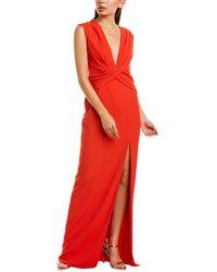 Jay Godfrey Twist Waist Gown - Red