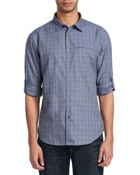 John Varvatos - Collection Check Sports Shirt - Lyst
